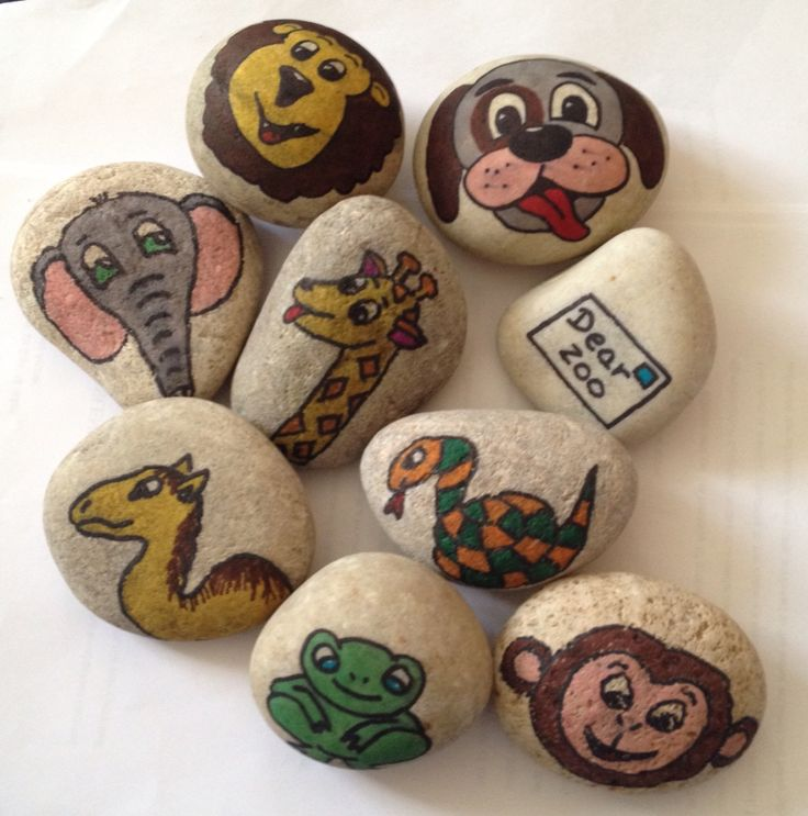 Dear zoo story stones early years EYFS ideas animals