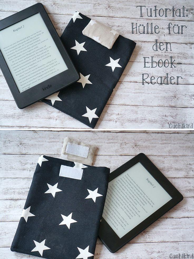 DIY-Tutorial: Anleitung zum Nähen einer Ebook-Hülle/Kindlehülle Kindle Paperwhite Ebookreader-Hülle selber nähen. Nähanleitung Schritt-für-Schritt. #kindle #kindlehülle #diy #diytutorial #nähanleitung