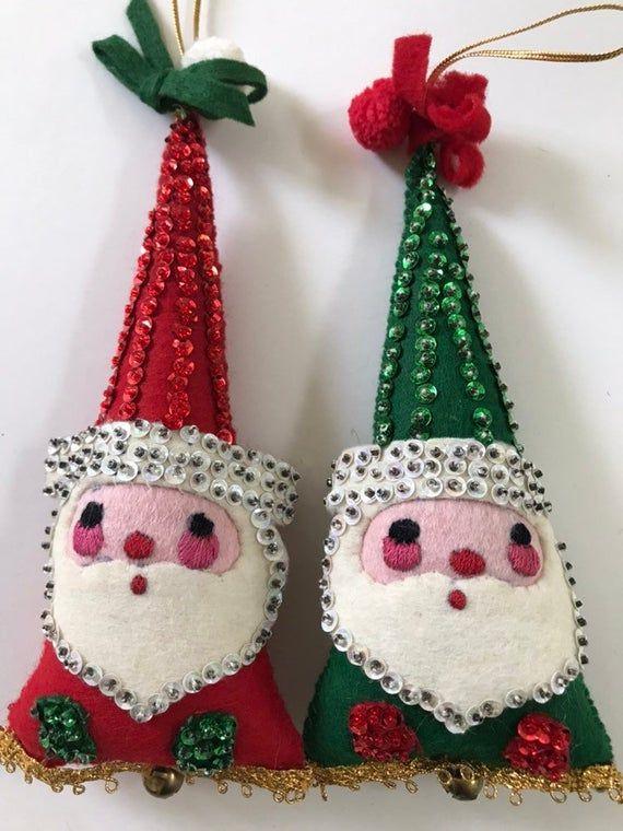 10++ Felt and sequin christmas ornaments ideas