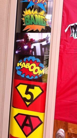 Front door super hero birthday