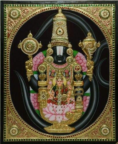 Sri Srinivasa.Tanjore painting......