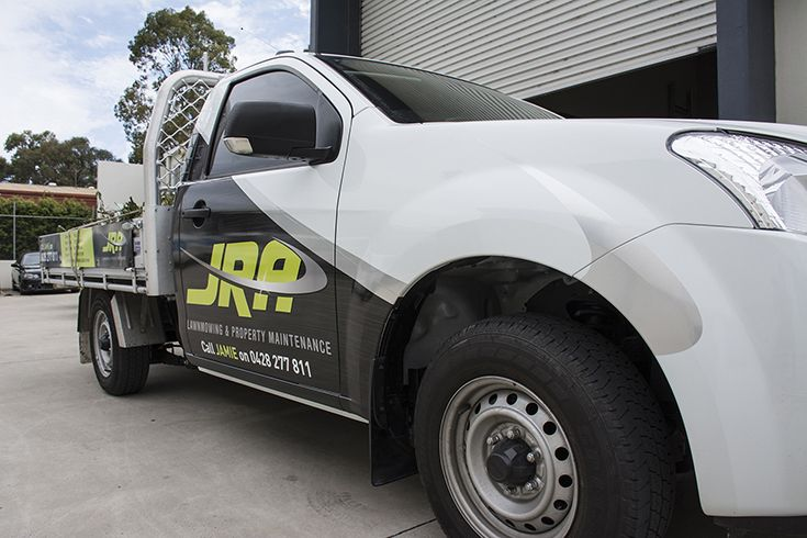 JRA Lawn Maintenance Vehicle Wrap