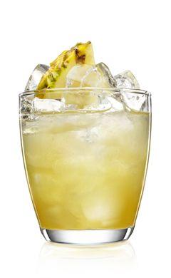 MALIBU BLACK LIGHT | 1 ½ parts (75 ml) MALIBU BLACK, 3 parts (150 ml) pineapple juice, Splash of fresh lime juice, Soda.