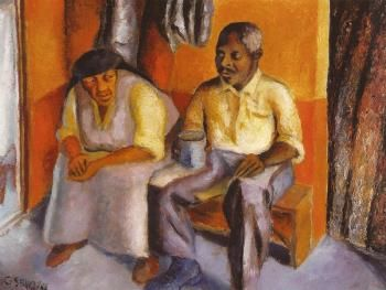 The artist's mother and stepfather - Gerard Sekoto