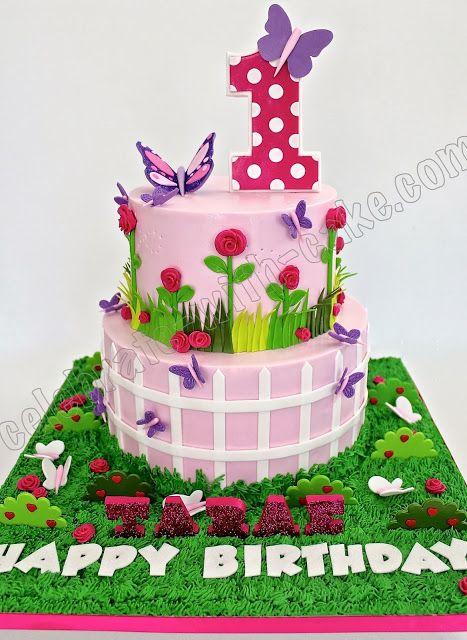 Celebrate With Cake Garden Themed 1st Birthday Garden Fairy Garden Sec