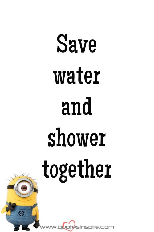 Save water and shower together