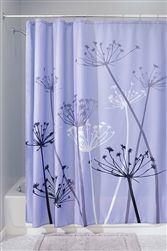 Thistle Purple Shower Curtain  Purple And Grey Shower Curtain