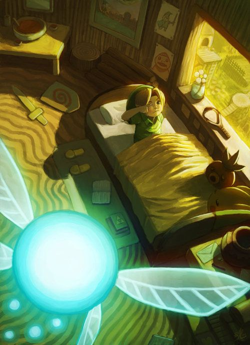Zelda Fan Art - reminds me of the opening OoT :)