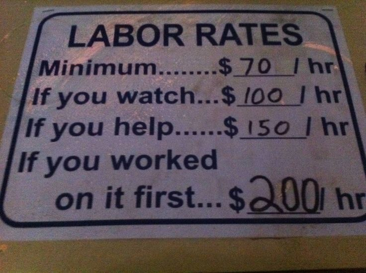 Labor Rates T-Shirt   Funny Mechanic Shirt   Electrician ...  Funny Plumber Labor Rate Signs