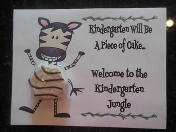 JUNGLE THEME OPEN HOUSE TREAT CERTIFICATE (ZEBRA CAKES) - TeachersPayTeachers.com