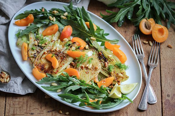 Gerösteter Fenchel-Aprikosen-Salat