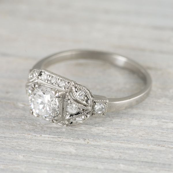 .73 Carat Vintage Art Deco Engagement Ring | Erstwhile Jewelry Co.   Perfect, low profile vintage ring? Perhaps!