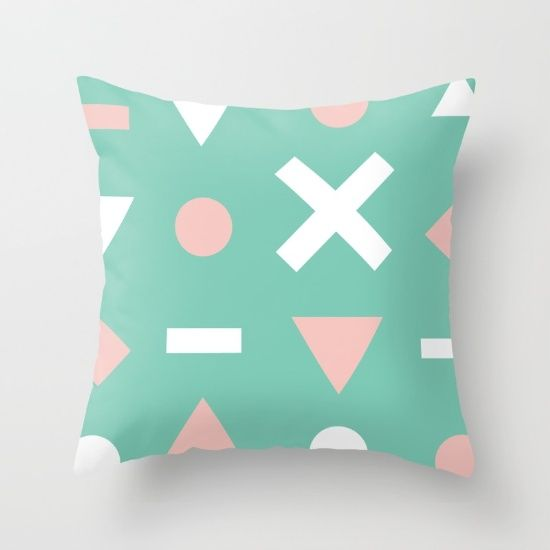 Follow Abstract Throw Pillow