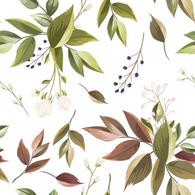 Beautiful Floral And Leaves Seamless Pattern In 2020 Floral
