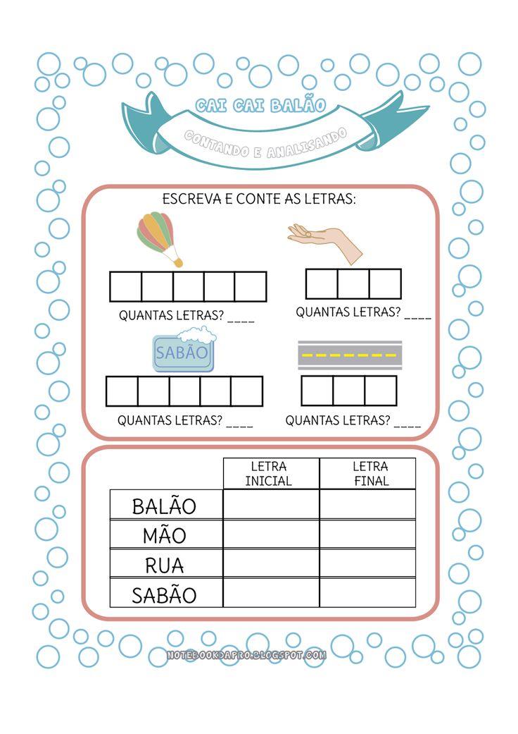Atividades ideais para crianças em nível silábico. Elas propõem uma análise das palavras.   Use alfabeto móvel e outro recursos disponívei...