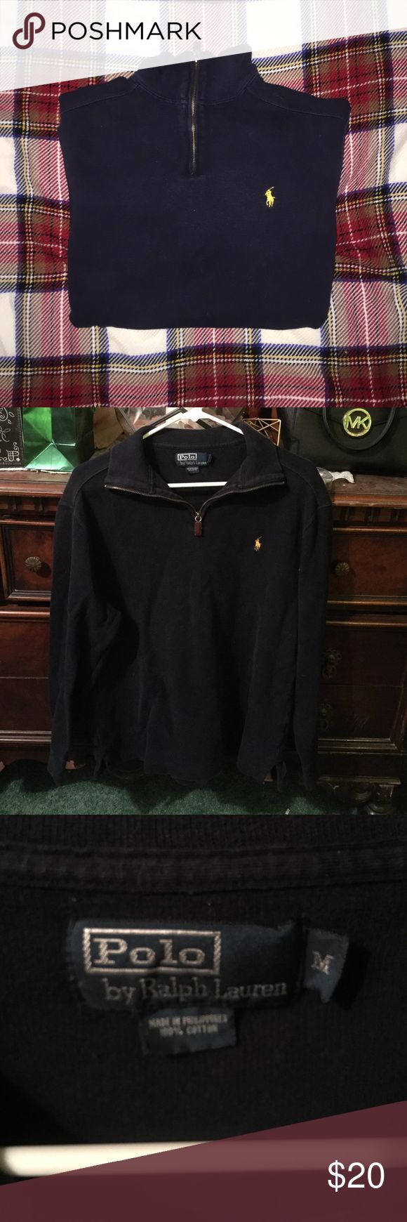 POLO PULLOVER Great condition no stains or lose strands size medium Polo by Ralph Lauren Sweaters Zip Up