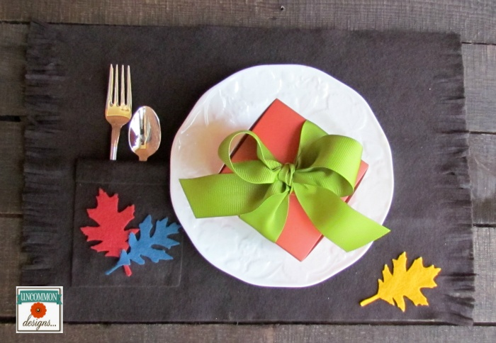 DIY Simple Felt Thanksgiving Placemats