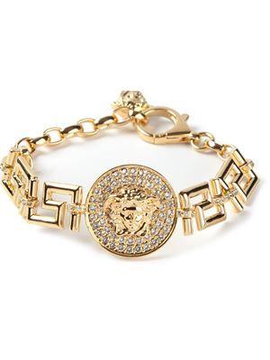 Women's Versace Greek Medusa Coin Bracelet 2014   cynthia reccord