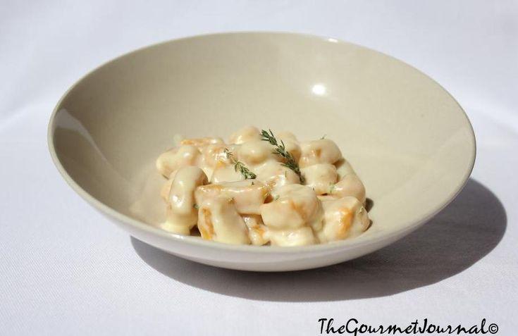 Gnocchis de Zanahoria con Fondue Inglesa. Encuentra la Receta en http://wp.me/p1gWd1-B7
