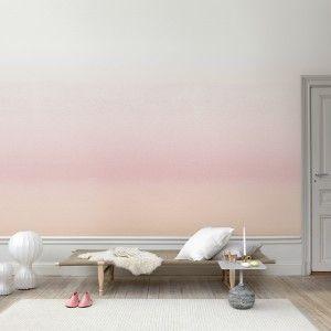 live here • skymning light pink • sandberg wallpaper