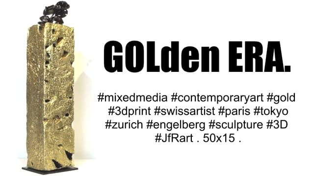 #mixedmedia #contemporaryart #gold #3dprint #swissartist #paris #tokyo #zurich #engelberg #sculpture #3D #JfRart . 50x15 . #or #impression3D #fabric #original