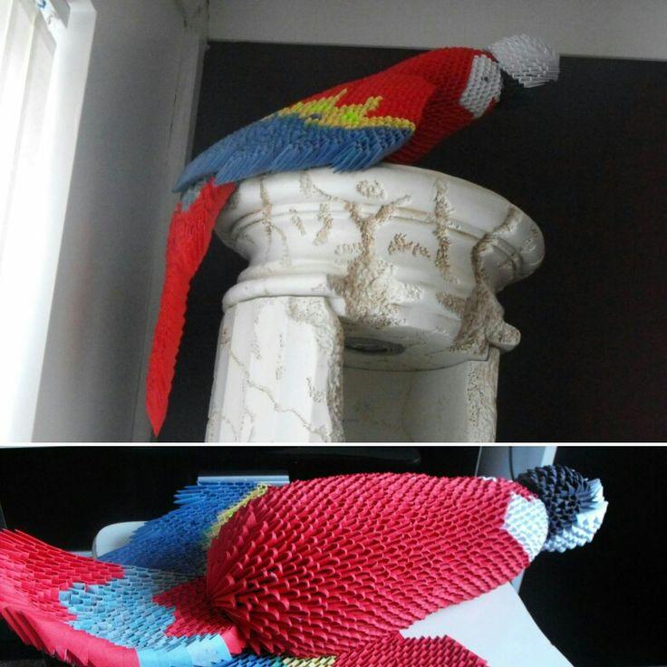 3d origami parrot.