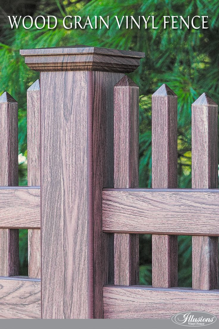 39 best vinyl fencing ideas images on pinterest vinyl fencing so youre looking for a fence you like wood but dont like to stain or paint it you like the idea of vinyl but dont like glossy white baanklon Image collections