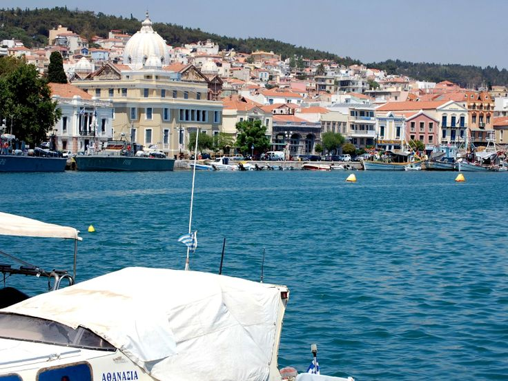 The port of the town reveals wonderful view to old feudal houses and newer buildings
