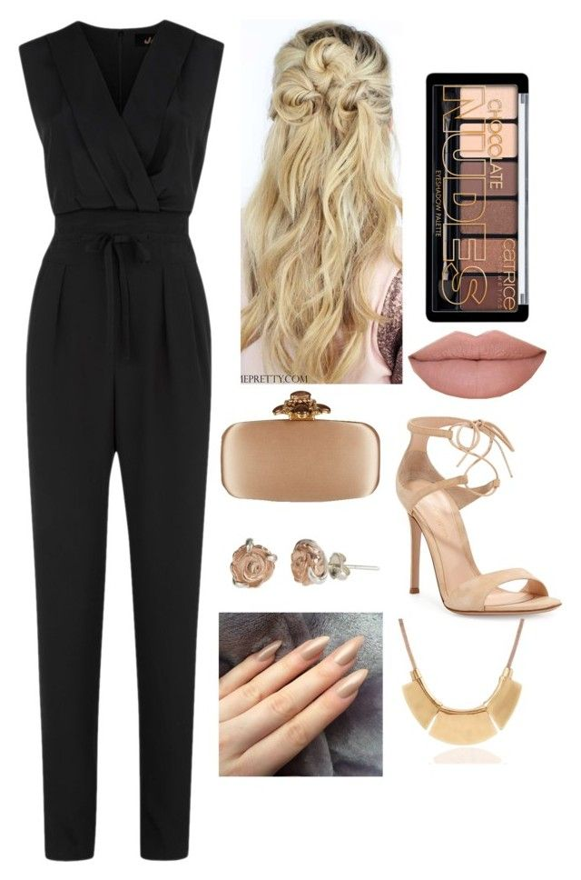 """""""Untitled #64"""" by oken-demir on Polyvore featuring Jaeger, Claire Hart Design, Gianvito Rossi, Oscar de la Renta, women's clothing, women, female, woman, misses and juniors"""