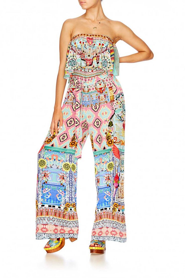Camilla - Close To My Heart- Strapless Jumpsuit W/Frill