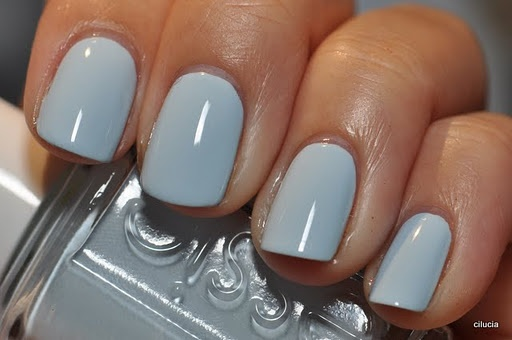 #Essie Borrowed and Blue - one of my favorite powder blue #nailpolish colors