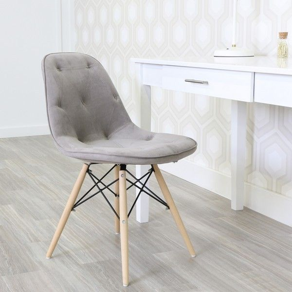 Upholstered Eames Dining Chair   Set Of 2