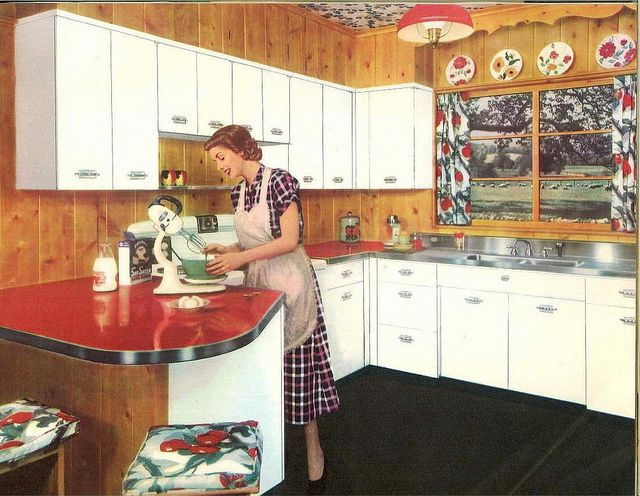 """1950s Farm Kitchen from """"Kitchens with charm personalized for you"""" by Geneva Modern Kitchens (195-)"""
