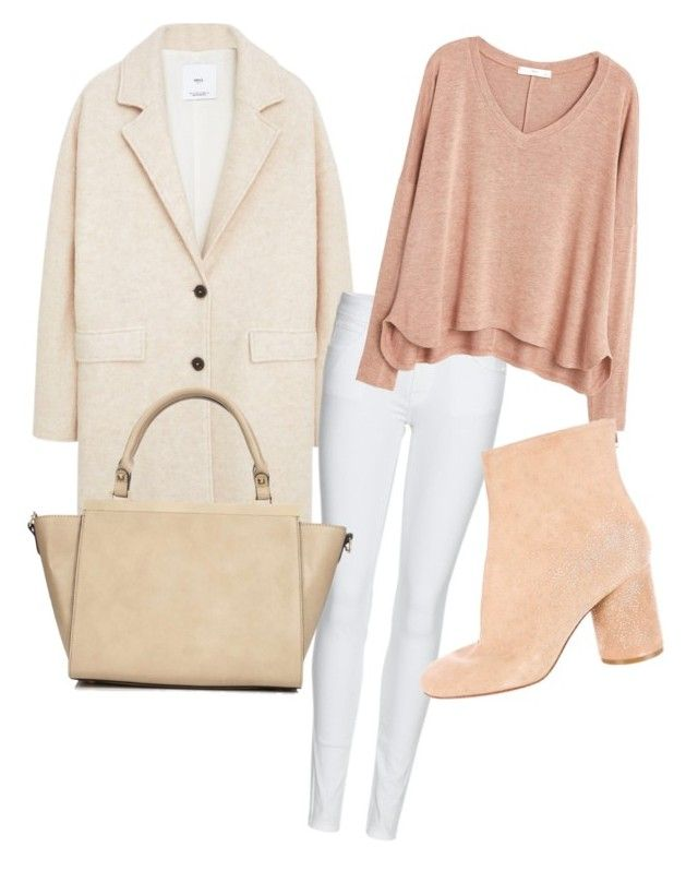 """all about nude"" by mila-steiner on Polyvore featuring Mode, MANGO, Burberry, Maison Margiela und Wallis"
