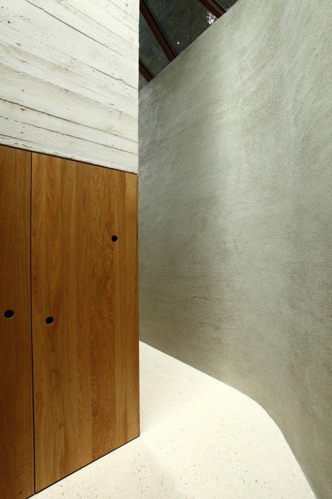 Béton/Bois/enduit  Maison L / Christian Pottgiesser Architectures Possibles