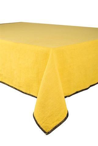 Harmony - Nappe en lin lavé Letia Curry - 100% lin lavé stone wash