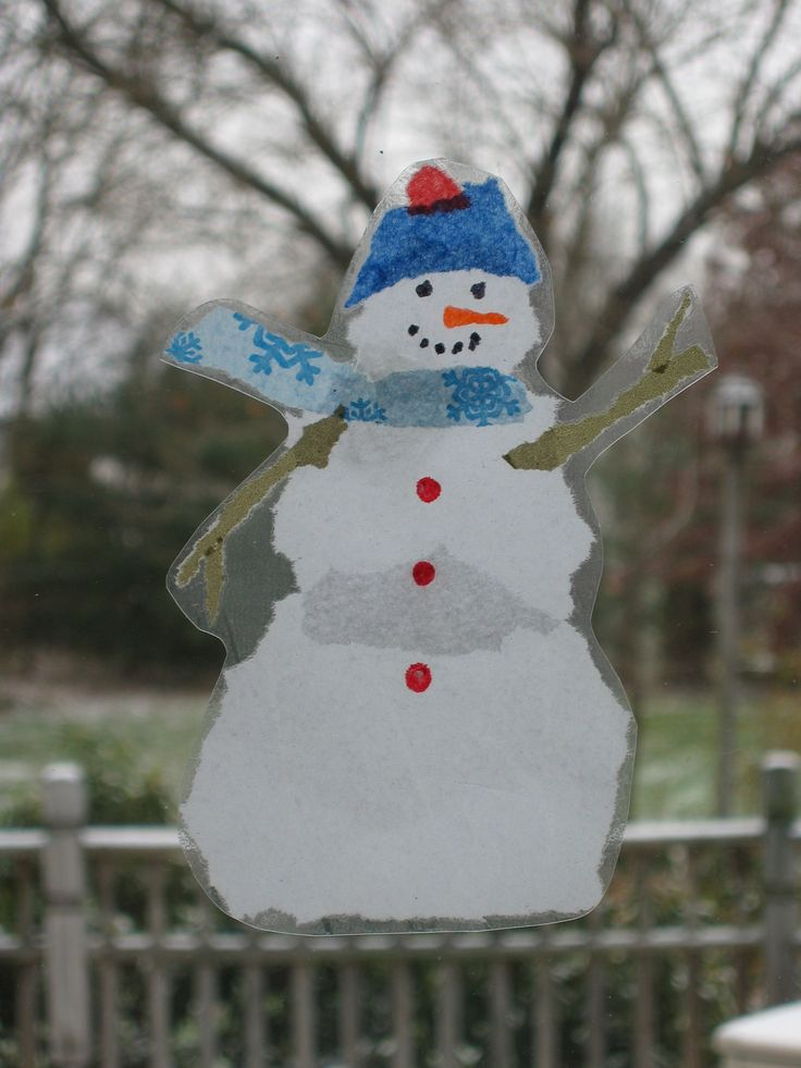 Snowman Window Art