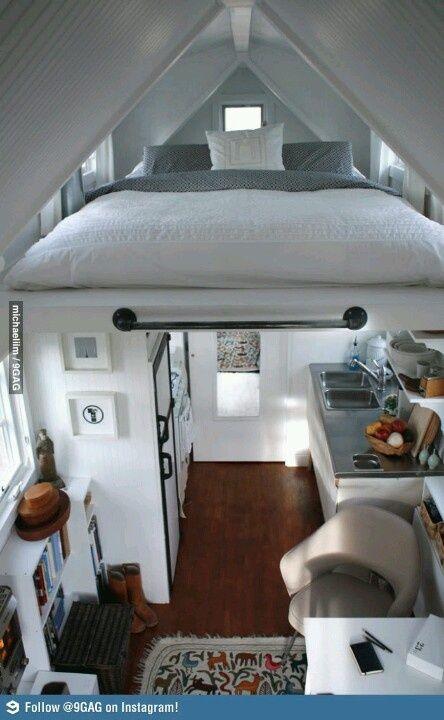 Basisidee: hoogslaper boven badkamer