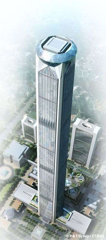 Goldin Finance 117, Tianjin-China, 596.5 m, UC, architect-P&T Group/ECADI