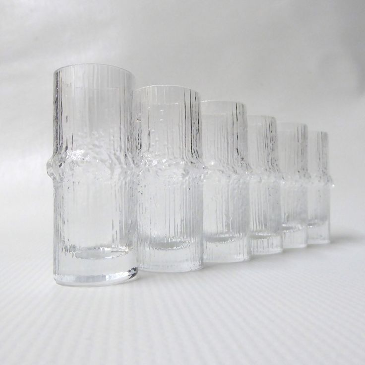 Vintage Iittala Finland Niva shot glasses, designed by Tapio Wirkkala in 1970s.  CocoCollectables on Etsy