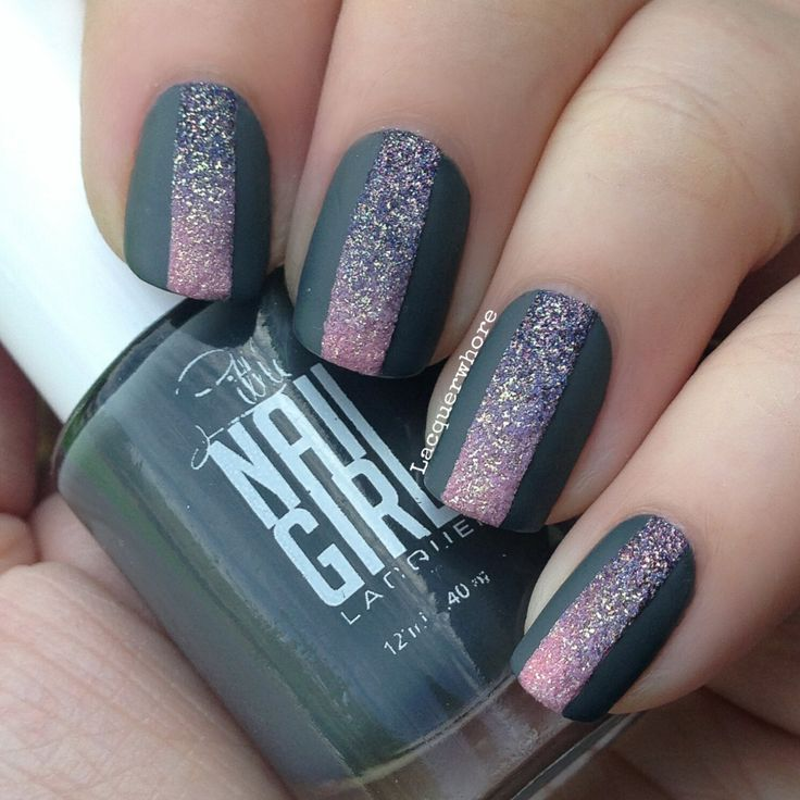 The gray is Heather by Little Nail Girl. For the gradient I used Alcatraz Rocks by OPI and Wish Upon a Starfish by China Glaze