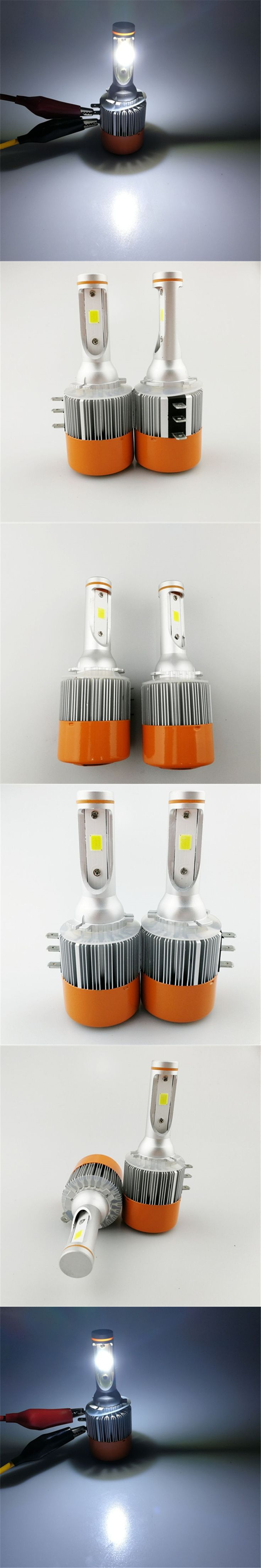 Hoping 2pcs H15 72W 7600Lm Wireless Led Car Headlight Lamp  Driving Bulb DRL Car Light Source For Golf  bmw ford volkswagen