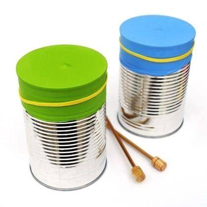 Photo: ♫ ✄ #DIY Tambour #Récup Fête de la Musique / DIY Musical Recycled…