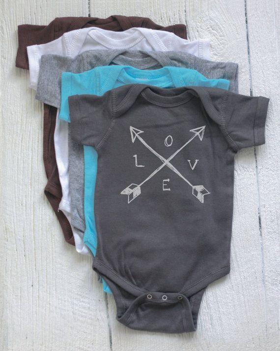 Baby Onesie - Cross Arrows LOVE