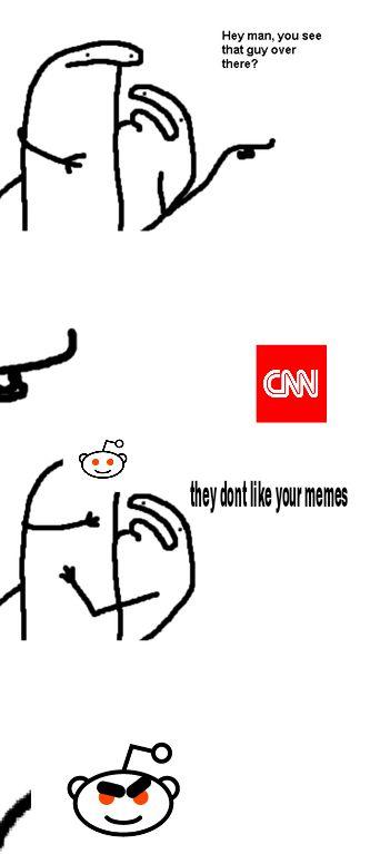 quick meme to join the war - reddit white knights vs CNN