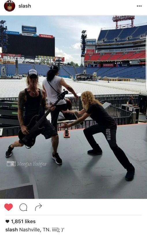 Duff, Steven Adler & Slash #gnr #gunsnrosesreunion #notinthislifetimetour