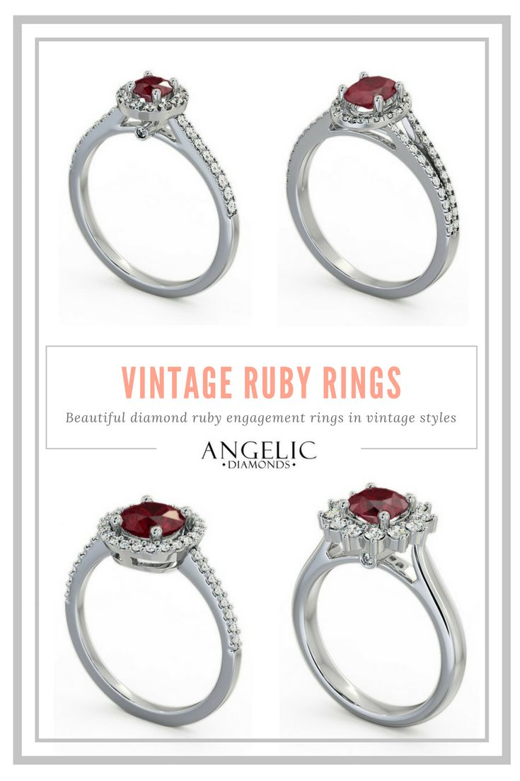 Searching for a timeless, vintage engagement ring? Visit the #AngelicDiamonds site and browse our stunning collection of vintage ruby rings, perfect for an alternative engagement ring with style. #Ruby #Diamond #Rubies #Diamonds #WhiteGold #Gold #Engaged #Engagement #EngagementRing #VintageRing #DiamondRing #RubyRing #Wedding #DiamondRing #RubyJewellery #RubyJewelry #Ring #Rings #Jewellery #Jewelry
