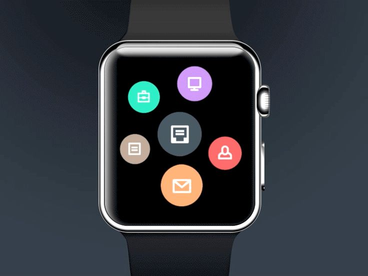Next part of Taasky Apple Watch concept. Process of creating new task after long tap. Behance Twitter