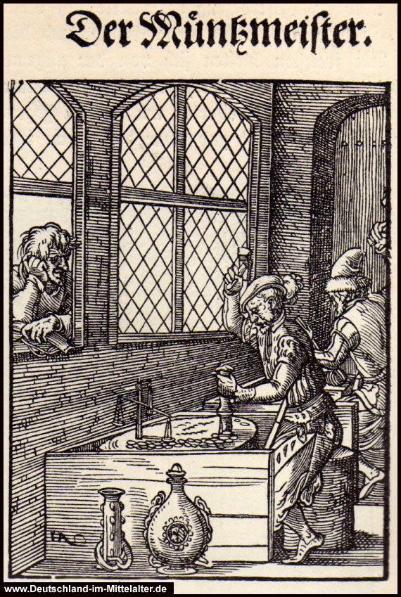 Tischsitten Im Mittelalter Arbeitsblatt : Bild der münzmeister alte berufe pinterest