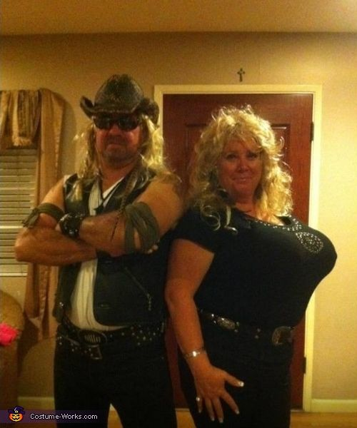 James: My husband loves watching Dog the bounty Hunter, so he decided that is what we were going to be. It really was quite easy, most everything we used was stuff...